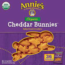 Annie's Homegrown Homegrown Organic Cheddar Bunnies Baked Snack Crackers (1  oz) - Instacart